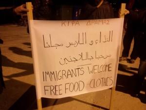 Υποδοχή των προσφύγων στο λιμάνι της Καβάλας από το ΚΙΦΑ